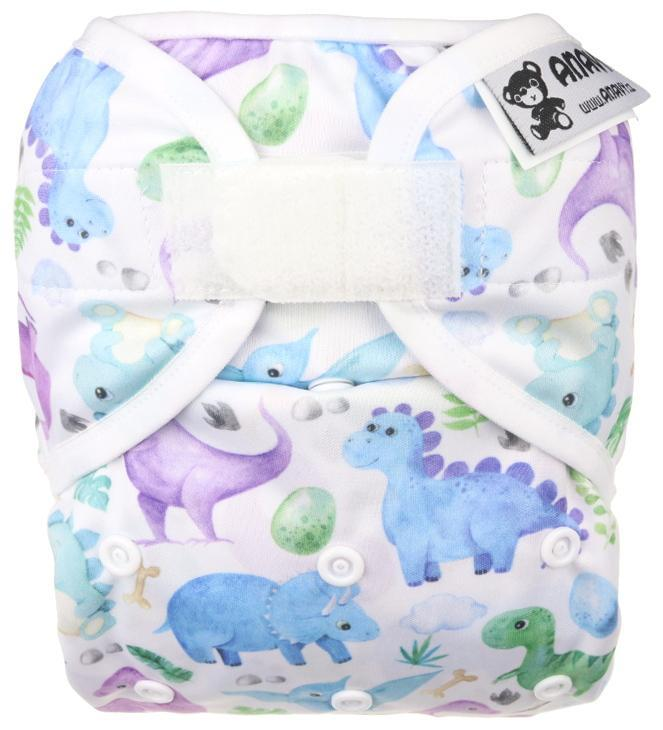 Jurassic PUL diaper cover with velcro