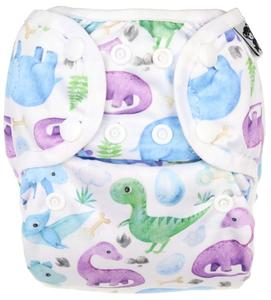 Jurassic PUL diaper cover with snaps