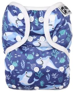 Sharks PUL diaper cover with snaps