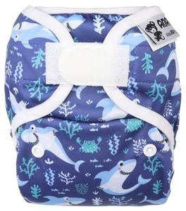 Sharks PUL diaper cover with velcro