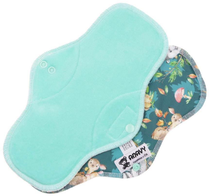 Mint/Animal mom Menstrual pad with PUL