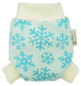 Snowflakes (blue) OLD TYPE 2 II. quality Wool diaper cover pull-up