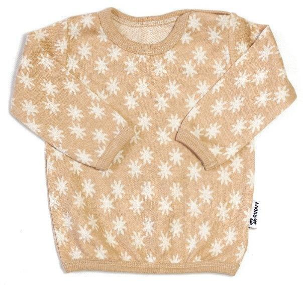 Organic cotton Stars on brown Tričko s dl. rukávem