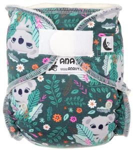 Koala (jade) Fitted diaper with velcro