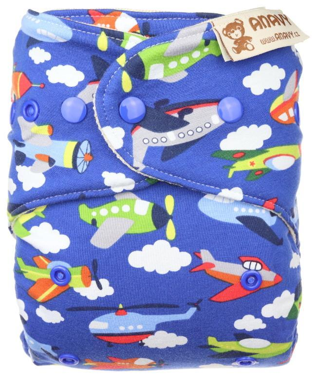 Airplanes (dark blue) Wool diaper cover with snaps