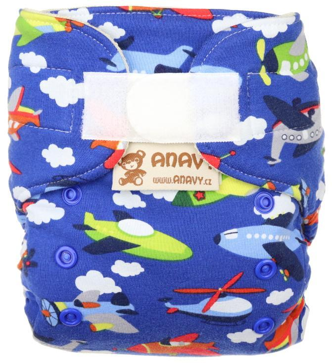 Airplanes (dark blue) Wool diaper cover with velcro