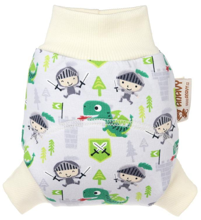 Knights (grey) Wool diaper cover pull-up
