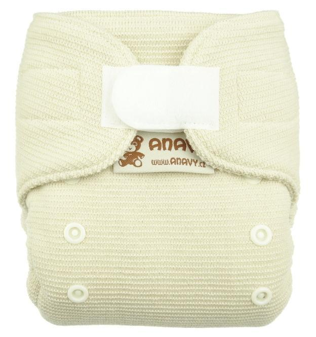 Natural wool Wool diaper cover with velcro