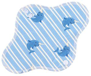 Narwhal Menstrual pad with fleece