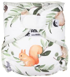 Forest animals (white) II. quality Fitted diaper with velcro