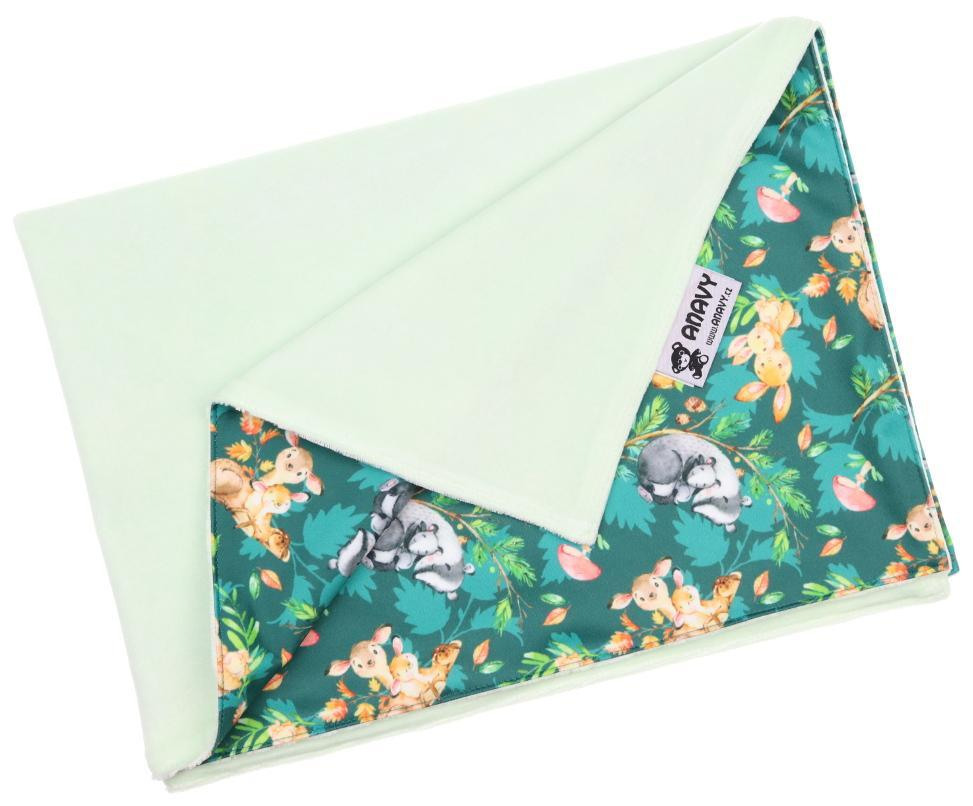 Mint/Animal mom Changing mat