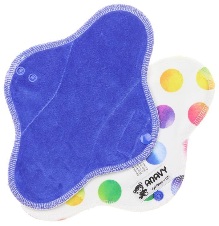 Blueberry/Rainbow circles Menstrual pad with PUL