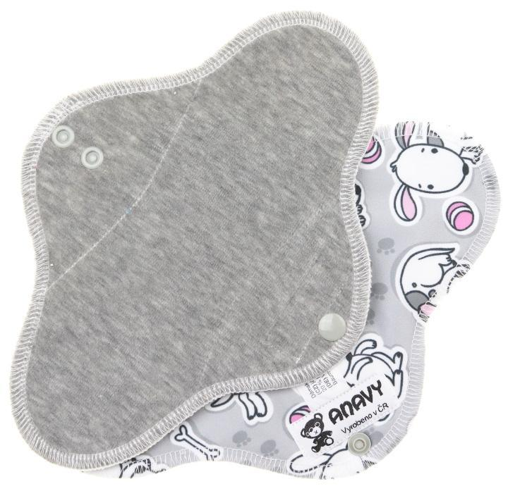 Grey/Dogs Menstrual pad with PUL
