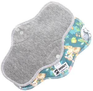 Grey/Animal mom Menstrual pad with PUL