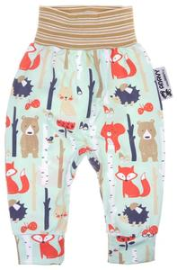 Baby pants Forest animals (mint)