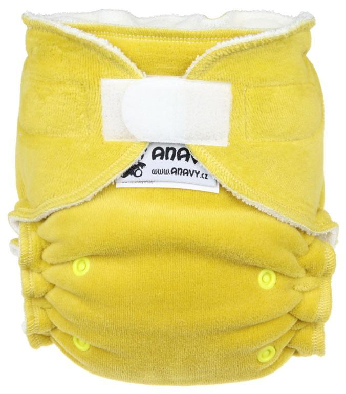Ochre Fitted diaper with velcro