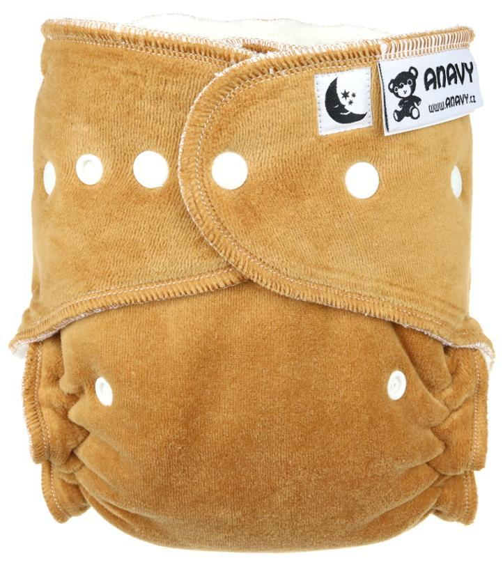 Caramel Fitted diaper with snaps