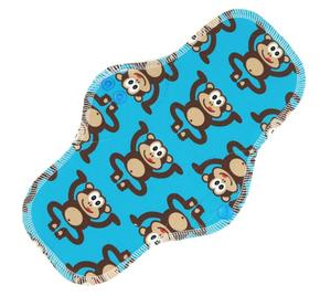 Monkeys (blue) Menstrual pad with PUL