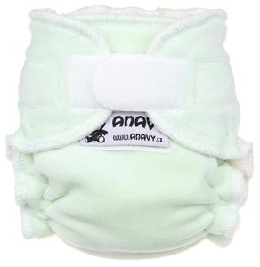 Light mint Fitted diaper with velcro