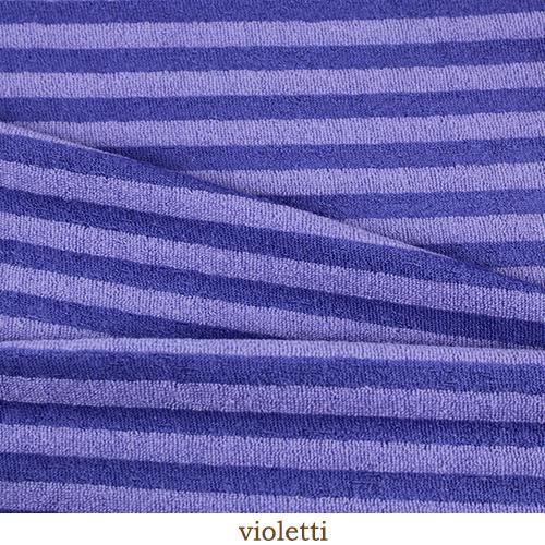 Bamboo terry - purple stripes