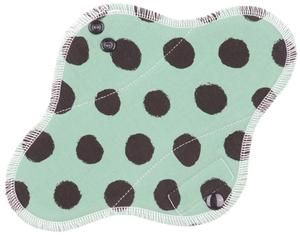 Black dots (khaki) II. Menstrual pad with fleece