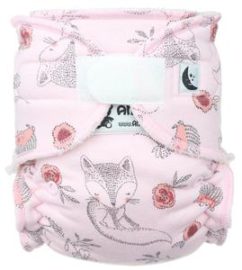 Foxes pink Fitted diaper with velcro