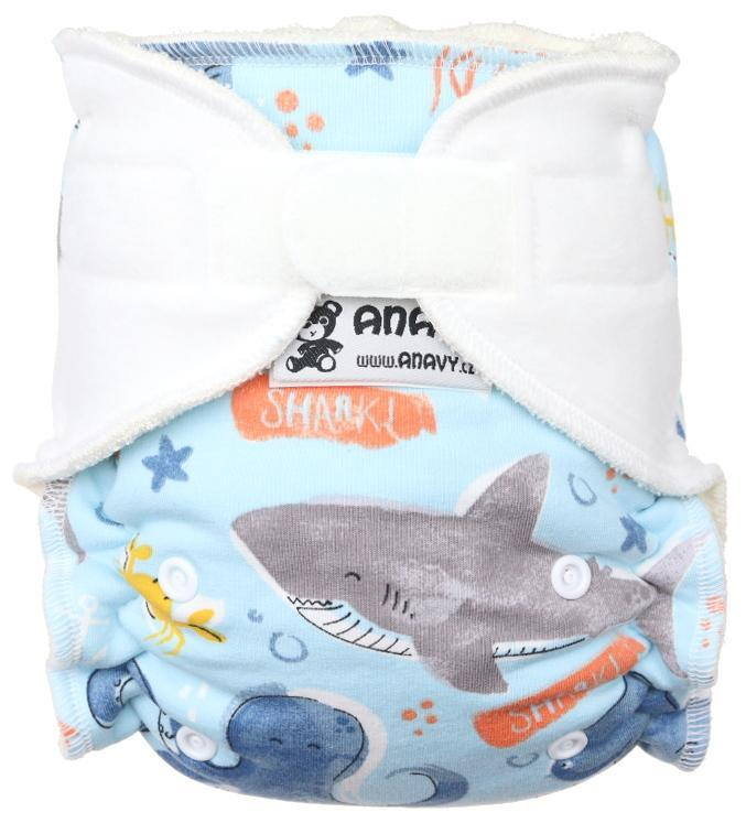 Sea Fitted diaper with velcro