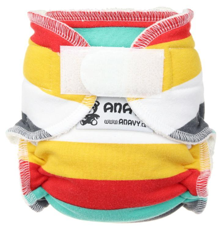Stripes (cool) Fitted diaper with velcro