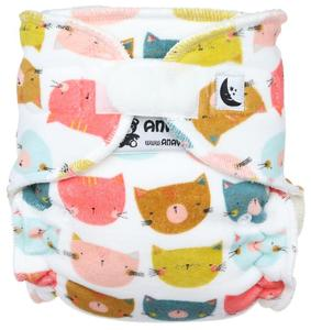 Cat heads Fitted diaper with velcro