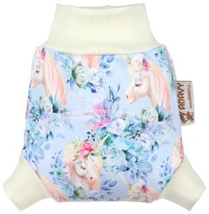 Magical Unicorns Wool diaper cover pull-up
