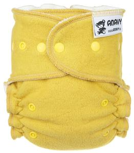 Sherpa (ocher) Fitted diaper with snaps