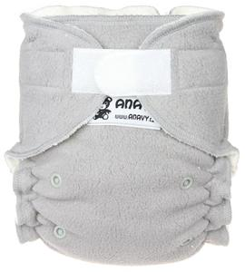 Sherpa (grey) Fitted diaper with velcro