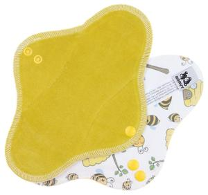 Ochre/Bees Menstrual pad with PUL