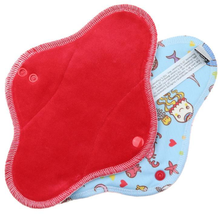 Strawberry/Ocean Menstrual pad with PUL