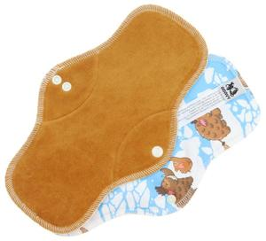 Caramel/Mammoths Menstrual pad with PUL