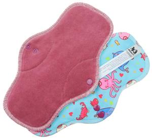 Berry/Ocean Menstrual pad with PUL