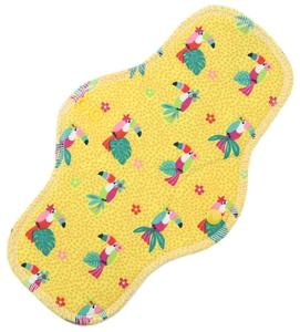 Parrots (yellow) Menstrual pad with PUL