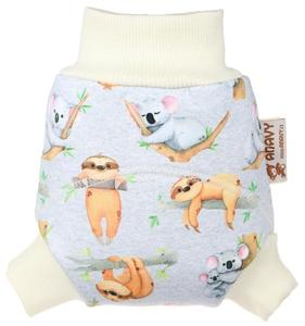 Sloths and koalas Wool diaper cover pull-up