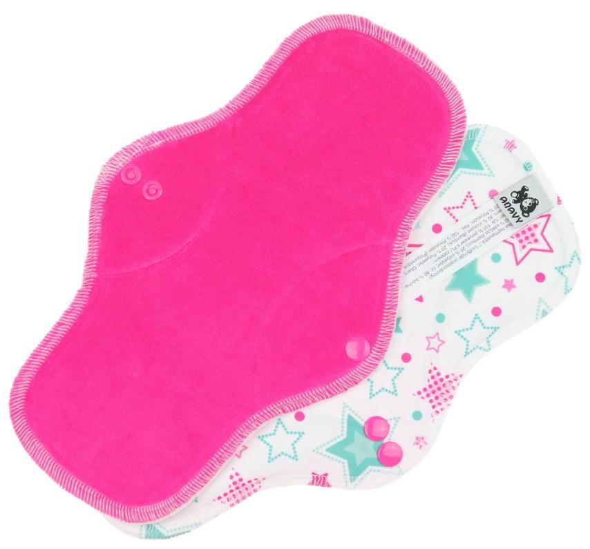 Sugar/Stars(mint) Menstrual pad with PUL
