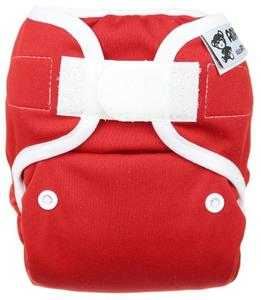 Strawberry PUL diaper cover with velcro