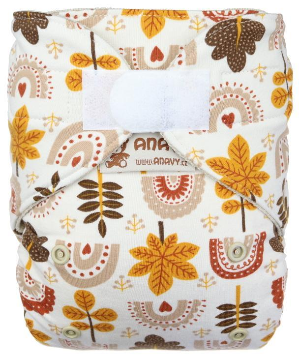 Autumn Wool diaper cover with velcro