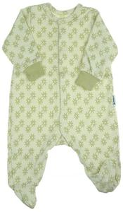 Overall organic cotton Green flowers
