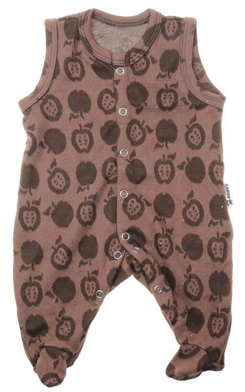 Romper Apples (brown) size 50