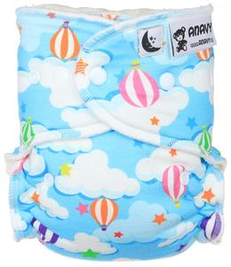 Balloons Fitted diaper with snaps