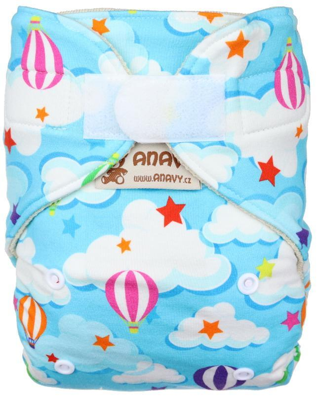 Balloons Wool diaper cover with velcro