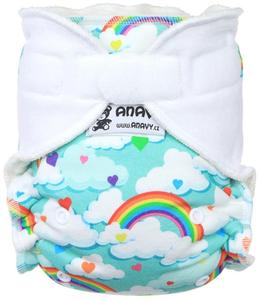 Rainbow hearts Fitted diaper with velcro