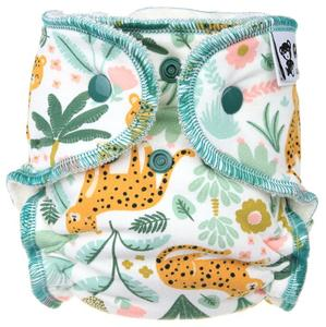 Cheetah Fitted diaper with snaps