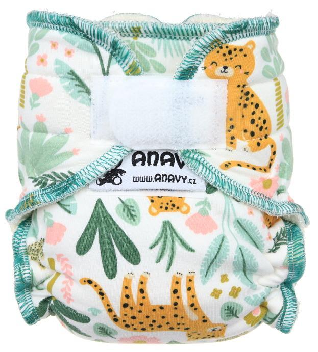 Cheetah Fitted diaper with velcro