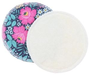 Cream/Flowers (PUL) Nursing pads