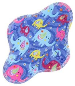 Elephants (blue) Menstrual pad with PUL
